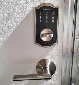 Schlage Battery Powered Deadbolt Installed on Residential Door